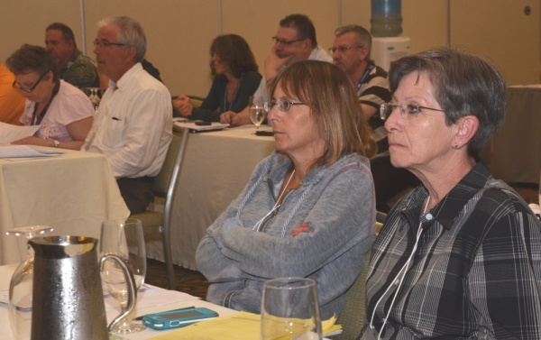 K-12 CUPE local presidents discuss plans at May 23 Vancouver meeting.
